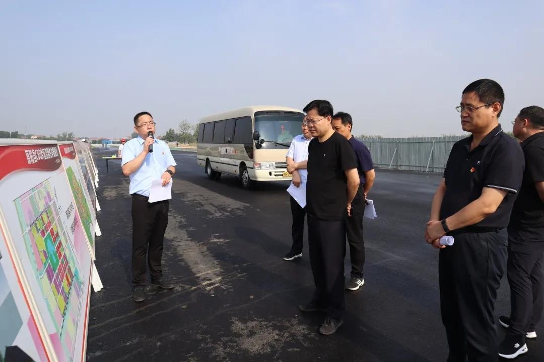 关注丨原阳县委副书记、县长郭新杰视察原阳CBD项目